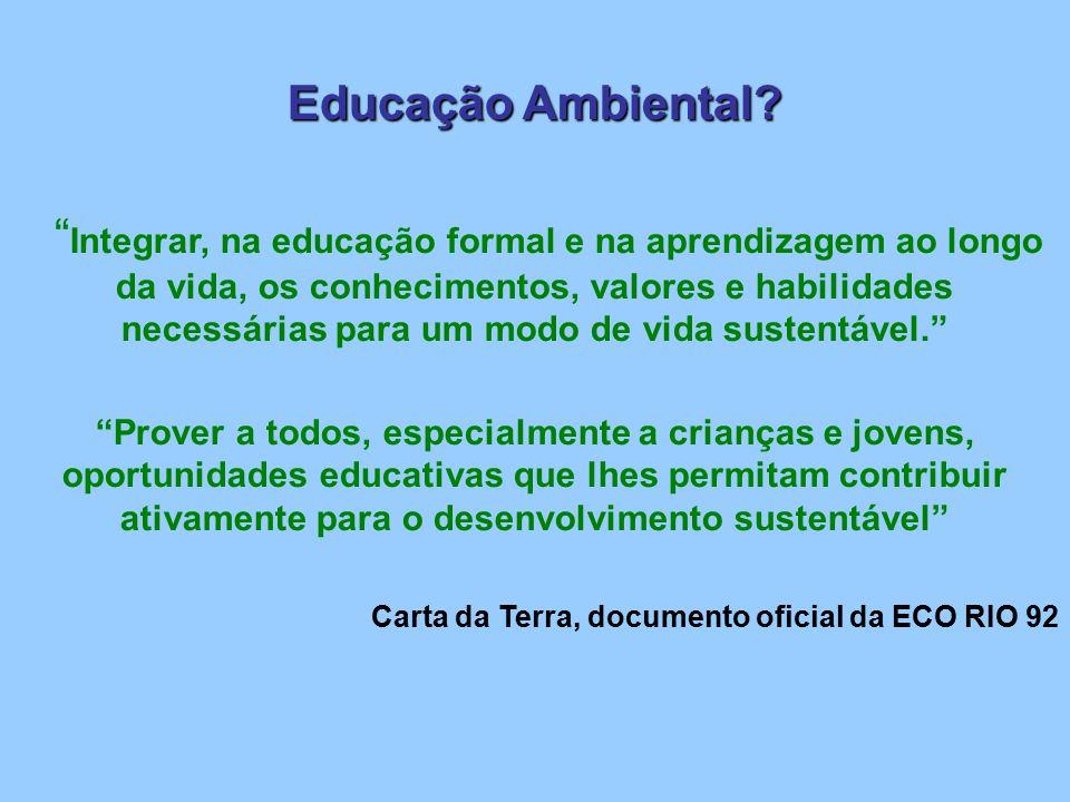 Programa Universitário de Educação Ambiental (PUEA) – Legislação: Constituição Federal de 1988; Política Nacional de Meio Ambiente (Lei nº 6.938, de 31/08/81); Lei de Diretrizes e Bases de 1996; Política Nacional de Educação Ambiental (Lei Nº 9.795, de 27/04/99).