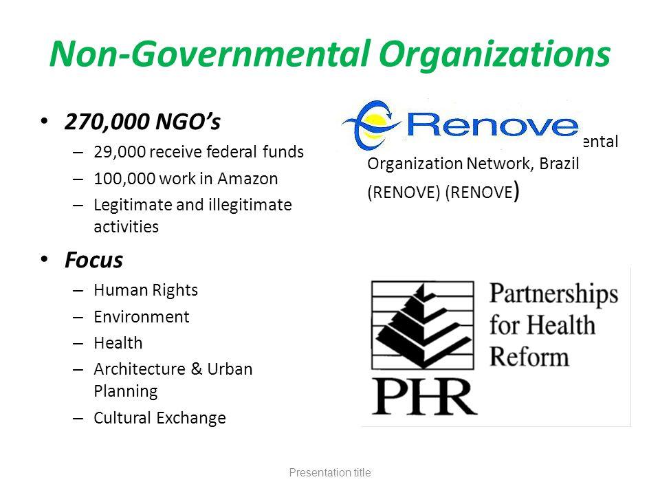 non governmental organizations