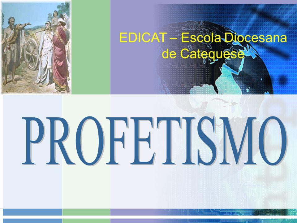 PROFETISMO PROFETISMO O profetismo - fenômeno COMUM Antigo Oriente Médio 1.Lecanomância 2.Hepatoscopia 3.Arvores sagradas Tal profeta não trazia uma mensagem com fundo moral e ético.