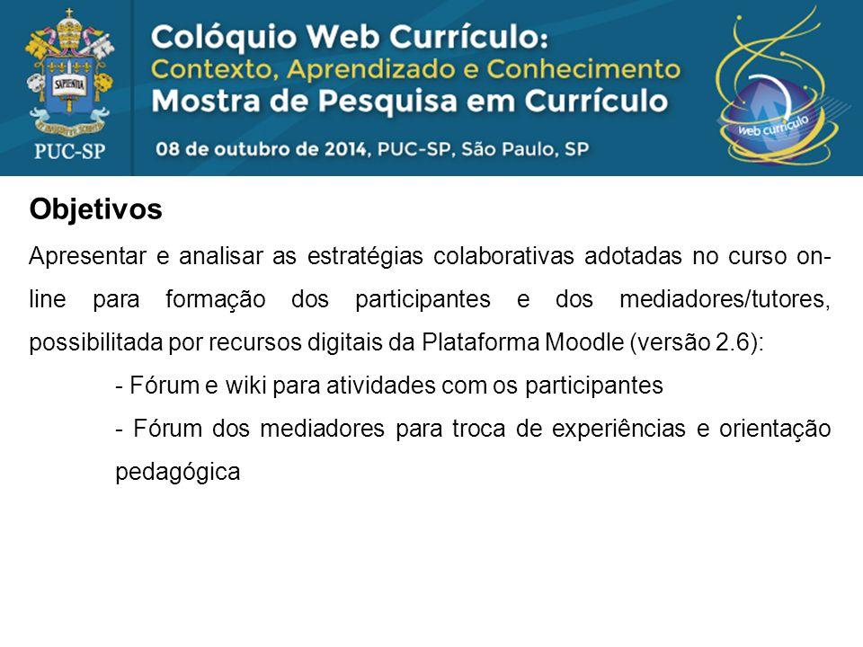 Problema: Foi observado que participantes de nossos cursos on-line compartilham suas ideias e práticas, com pouco diálogo e pouca colaboração.