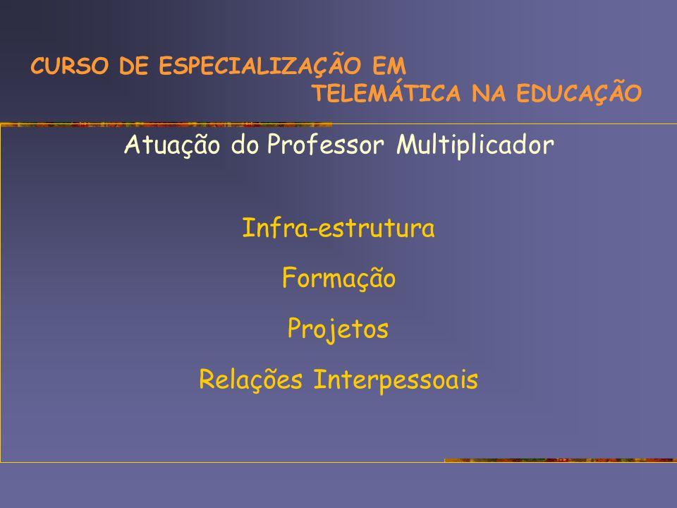 CURSO DE ESPECIALIZAÇÃO EM TELEMÁTICA NA EDUCAÇÃO e a d e-proinfo construção coletiva proposta inovadora Concepção