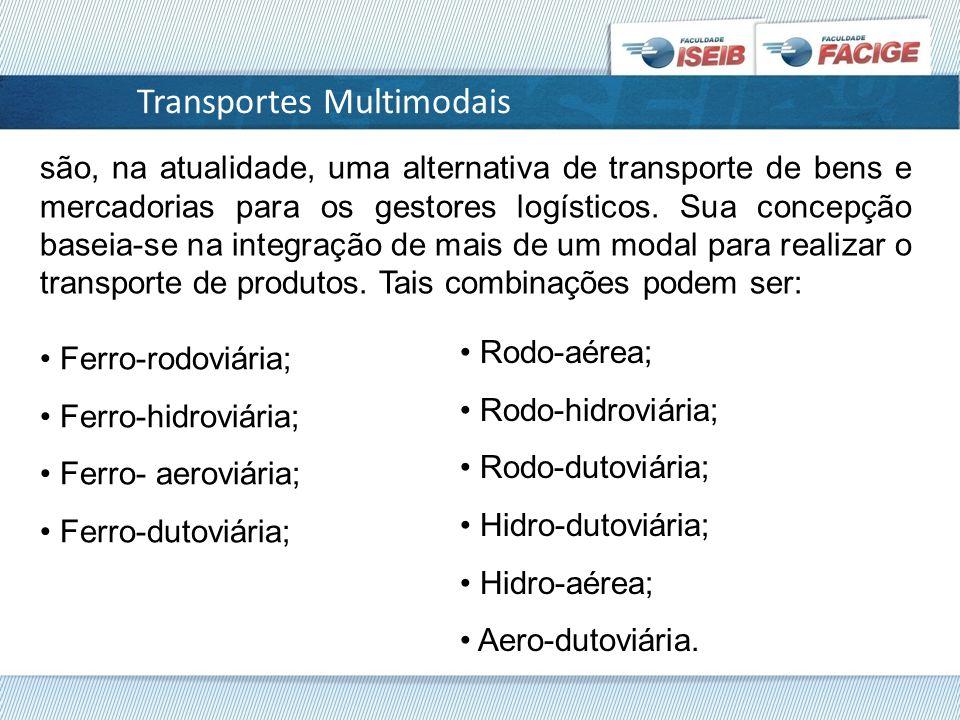 são, na atualidade, uma alternativa de transporte de bens e mercadorias para os gestores logísticos.