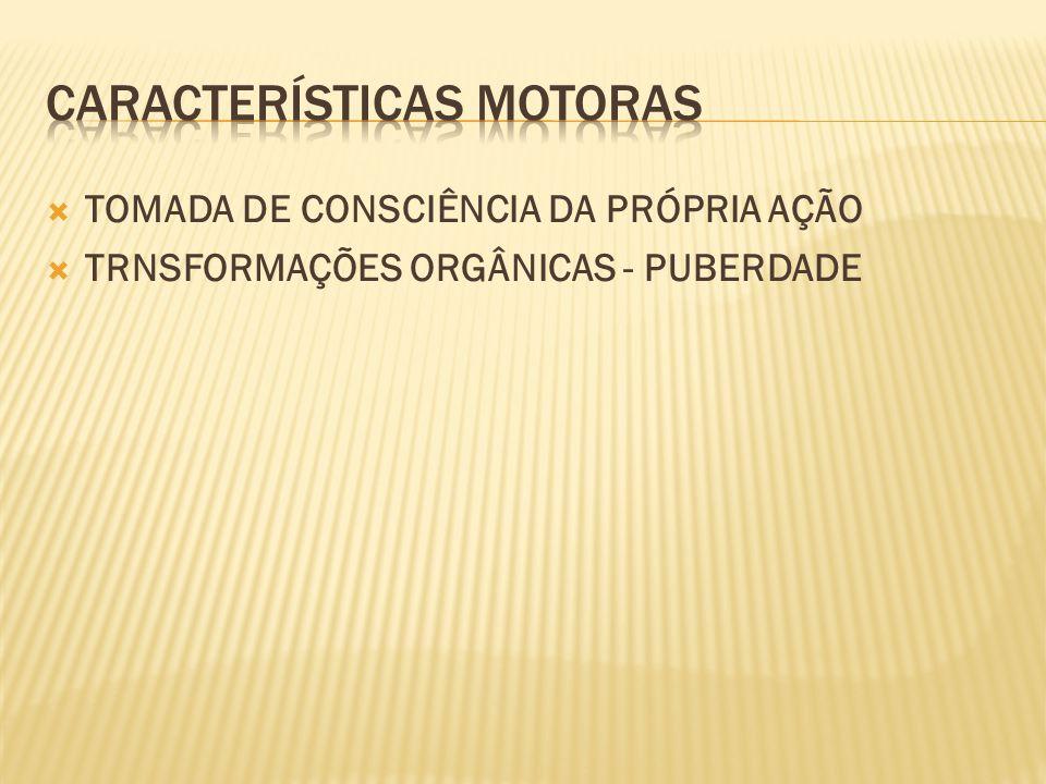  TOMADA DE CONSCIÊNCIA DA PRÓPRIA AÇÃO  TRNSFORMAÇÕES ORGÂNICAS - PUBERDADE