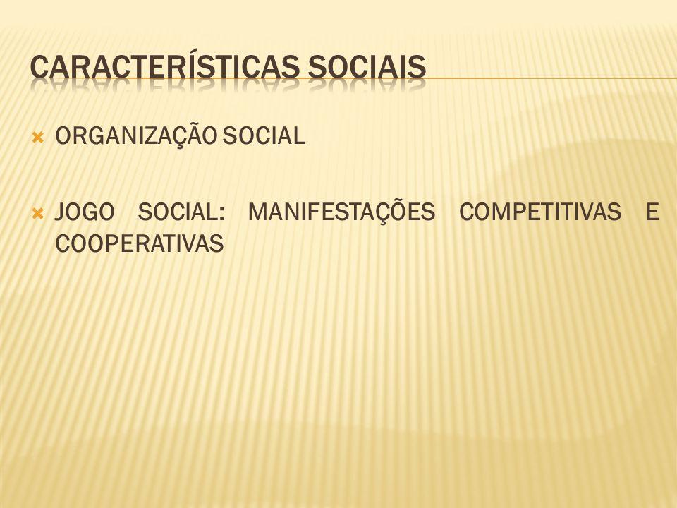  ORGANIZAÇÃO SOCIAL  JOGO SOCIAL: MANIFESTAÇÕES COMPETITIVAS E COOPERATIVAS
