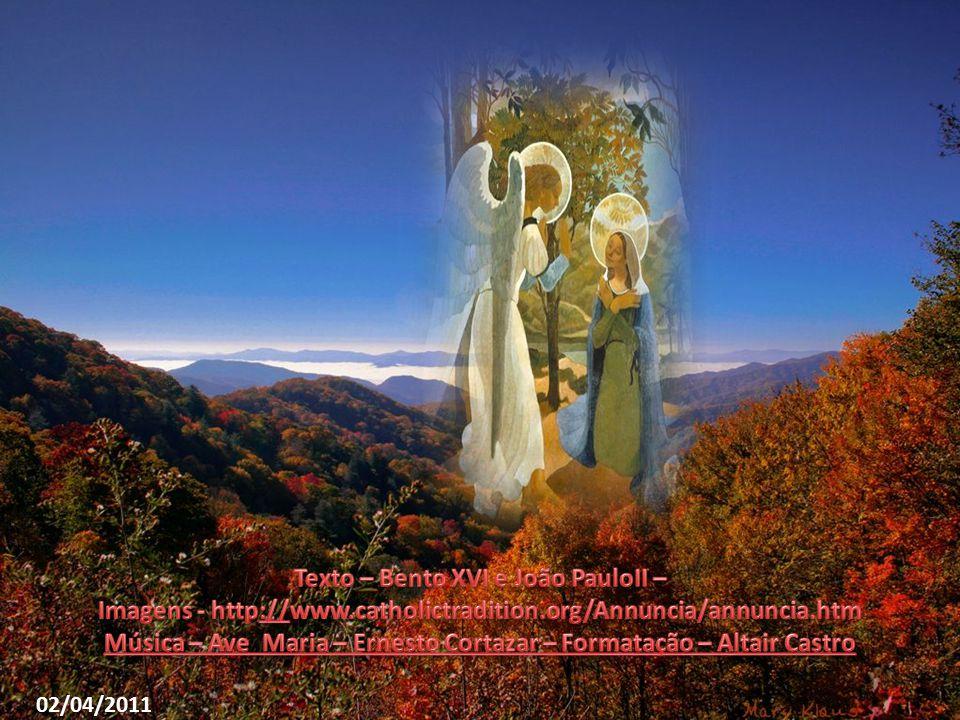 Virgem, Mãe da Igreja, ajuda-nos a dizer sempre a razão da esperança que nos anima, tendo confiança na bondade do homem e no amor do Pai.