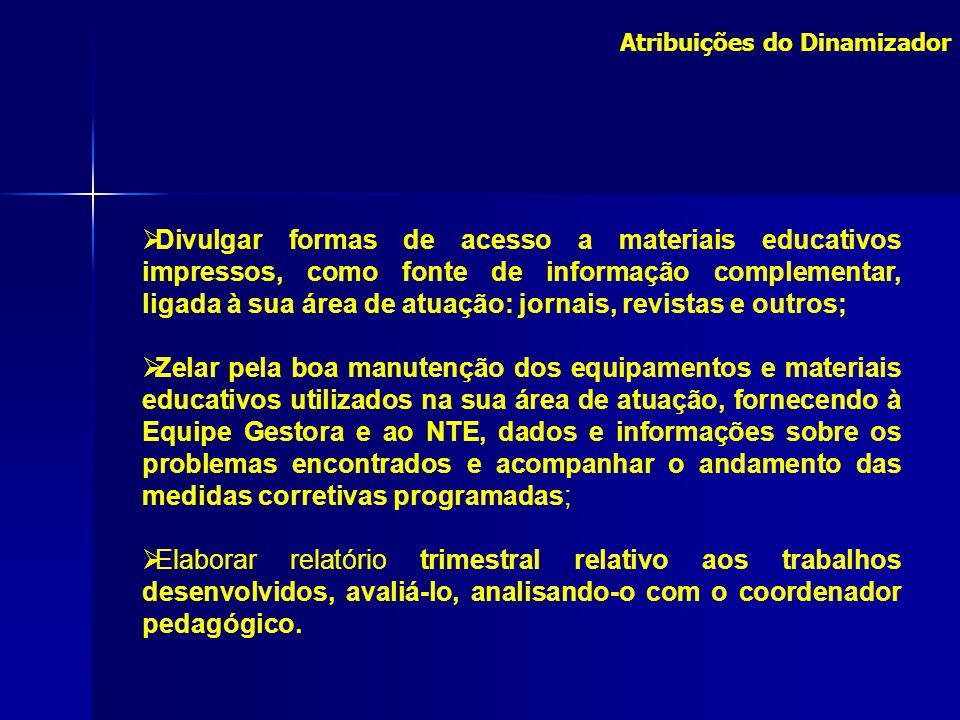 Divulgar formas de acesso a materiais educativos impressos, como fonte de informação complementar, ligada à sua área de atuação: jornais, revistas e