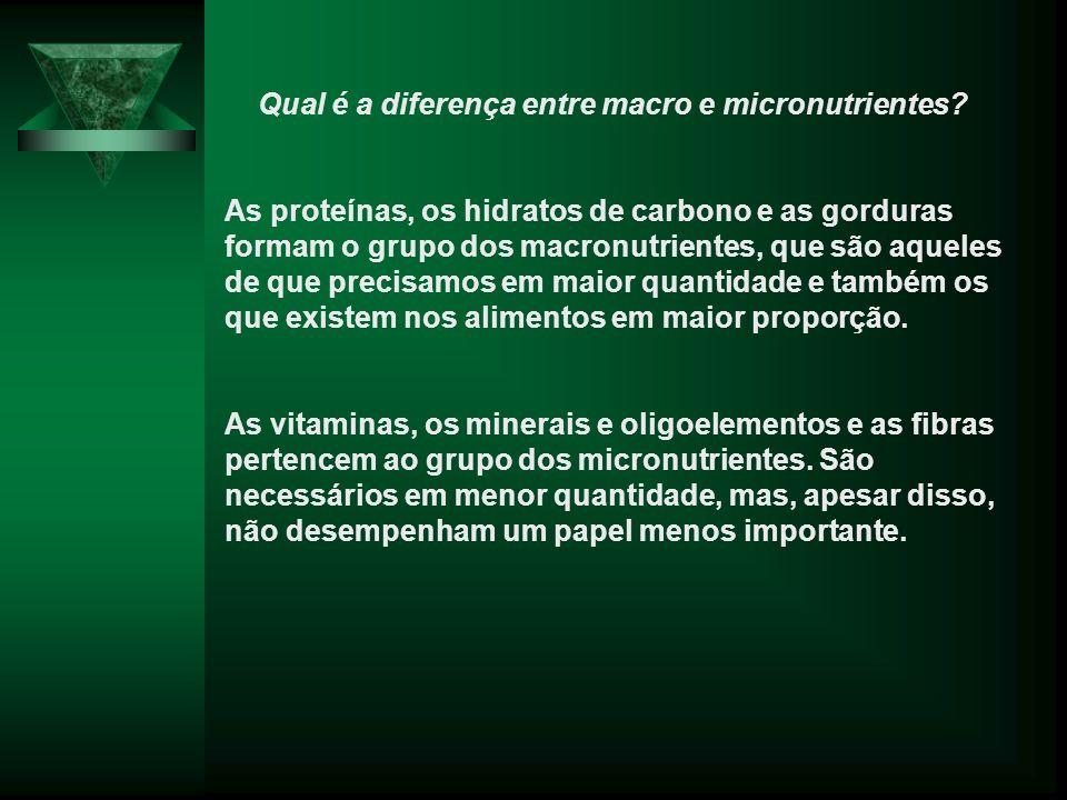 Qual é a diferença entre macro e micronutrientes.