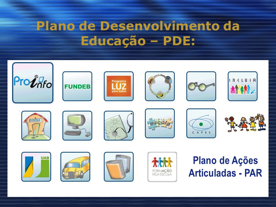 Plano de Desenvolvimento da Educação – PDE: Plano de Ações Articuladas - PAR