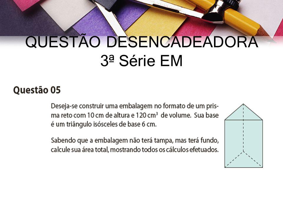 QUESTÃO DESENCADEADORA 3ª Série EM