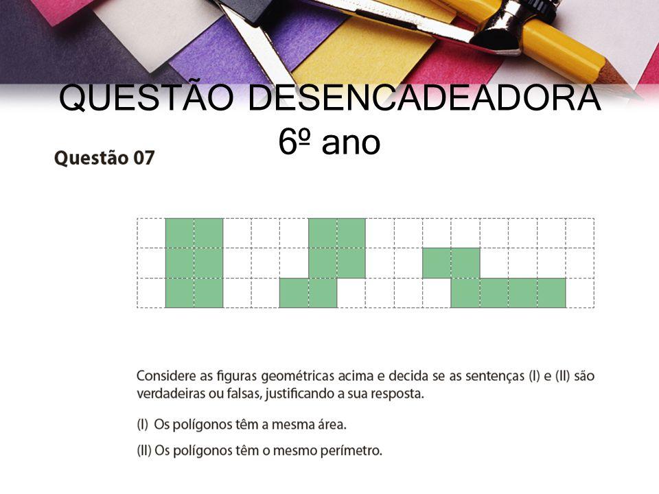 QUESTÃO DESENCADEADORA 6º ano