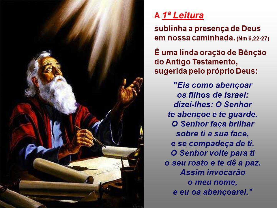 A Liturgia comemora hoje várias realidades: - A festa da MÃE DE DEUS : aquela que, com o seu Sim ao projeto de Deus, nos deu Jesus, o nosso libertador