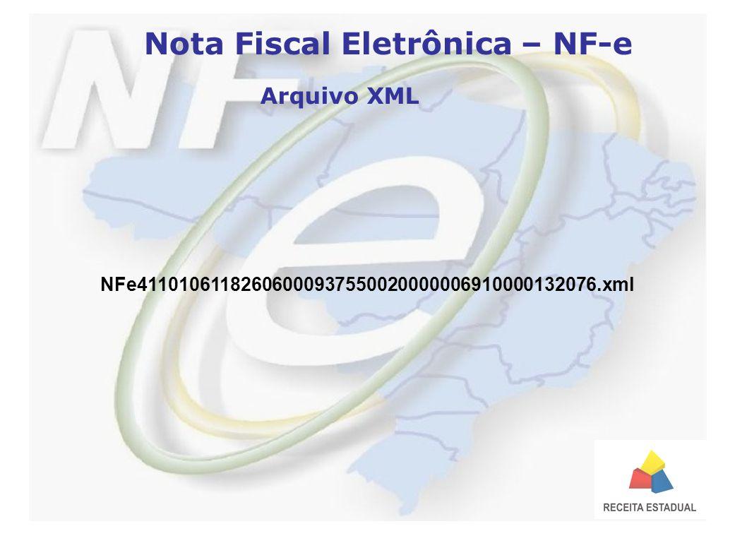 Nota Fiscal Eletrônica – NF-e Arquivo XML NFe41101061182606000937550020000006910000132076.xml
