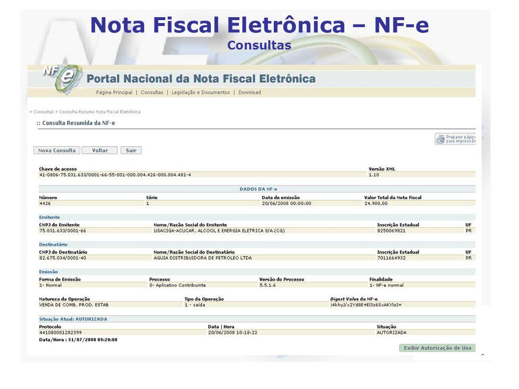 Nota Fiscal Eletrônica – NF-e Consultas