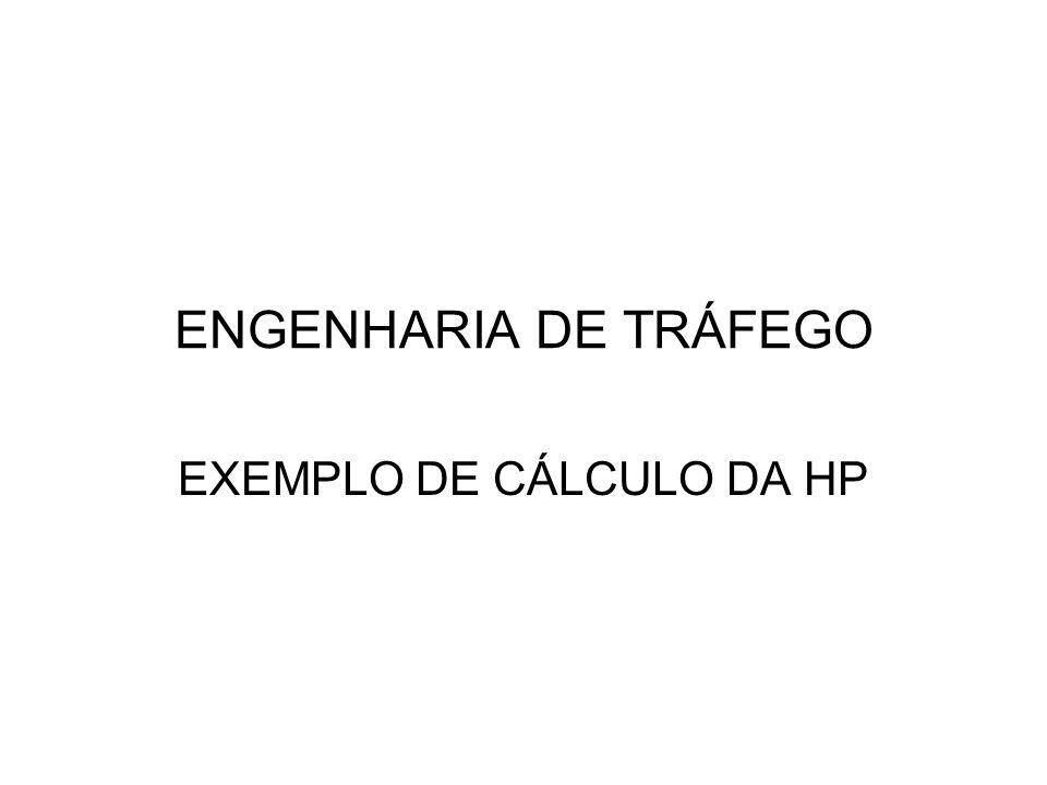ENGENHARIA DE TRÁFEGO EXEMPLO DE CÁLCULO DA HP