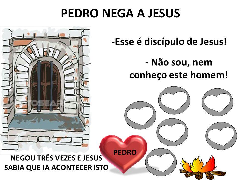 O OLHAR DE JESUS PARA PEDRO ELE CHOROU, CHOROU COM ARREPENDIMENTO Quando Pedro negou pela terceira vez, Jesus olhou para ele Não vale a pena se afastar de Jesus e unir-se aos ímpios