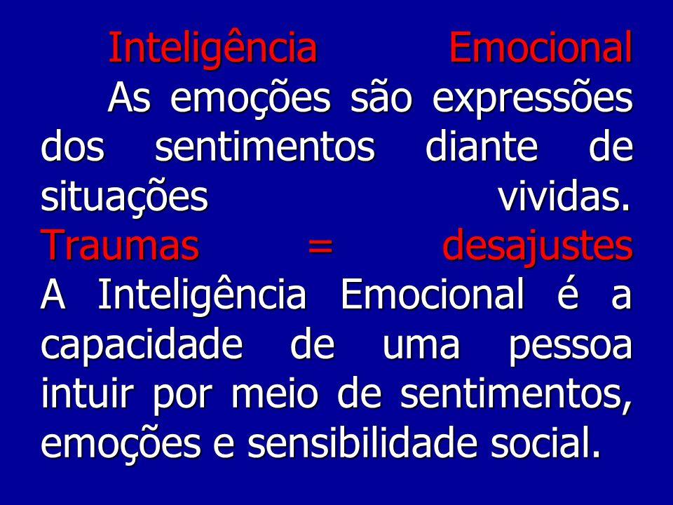 Inteligência Emocional As emoções são expressões dos sentimentos diante de situações vividas.