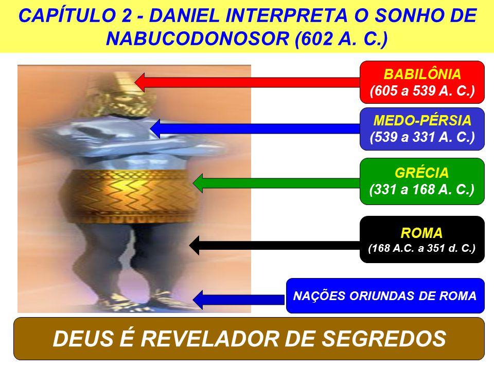 BABILÔNIA (605 a 539 A.C.) DEUS É REVELADOR DE SEGREDOS MEDO-PÉRSIA (539 a 331 A.