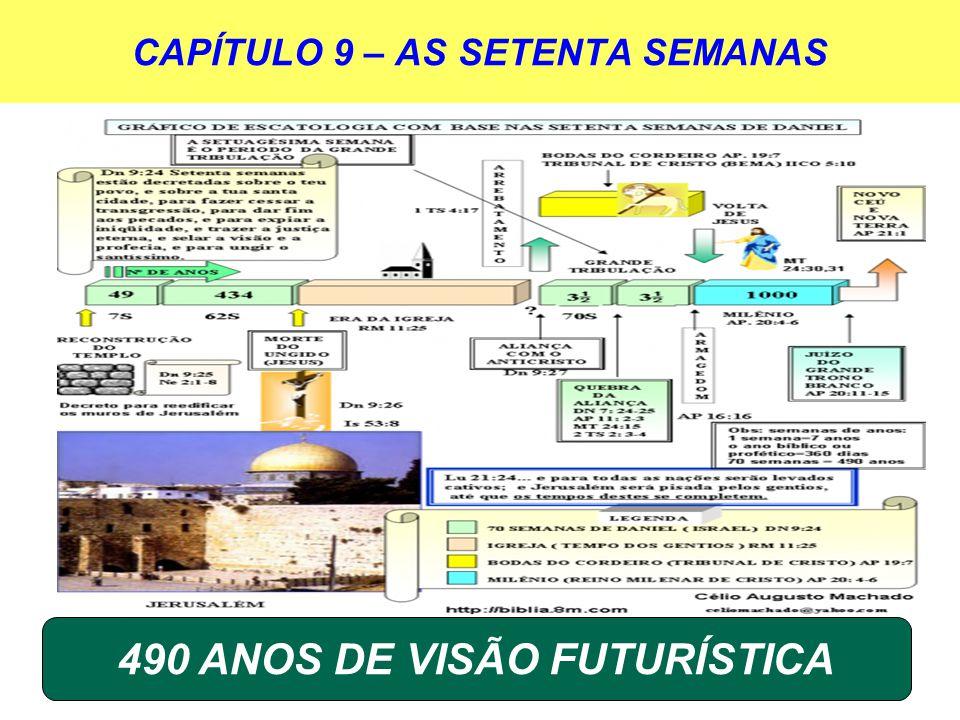 CAPÍTULO 9 – AS SETENTA SEMANAS 490 ANOS DE VISÃO FUTURÍSTICA