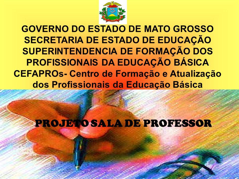 Sala de Professor Formação da/na unidade escolar que objetiva fortalecer a escola como lócus de formação continuada.