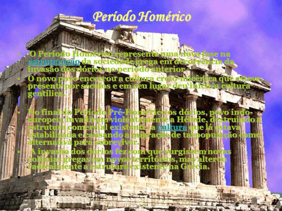 Arcaico O Período Arcaico da Grécia é referente a um momento de desenvolvimento cultural, político e social.
