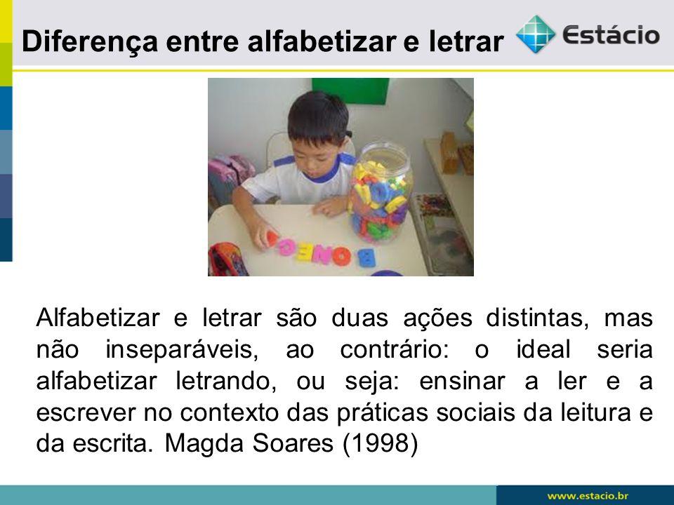 Alfabetização - processo pelo qual se adquire uma tecnologia – a escrita alfabética e as habilidades de utiliza-la para ler e escrever.