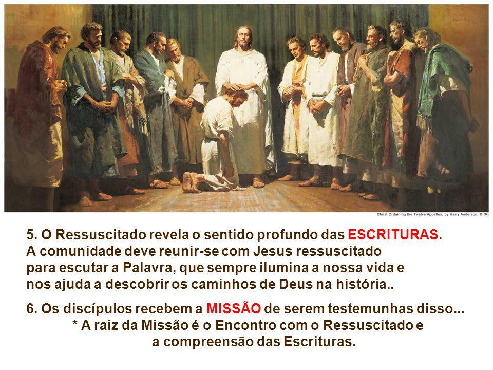 3. AS DÚVIDAS dos discípulos mostram a dificuldade que eles sentiram em percorrer o caminho da fé, até o encontro pessoal com o Senhor ressuscitado. F