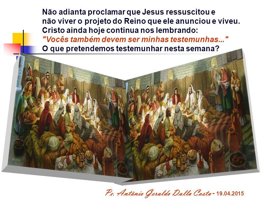 Viver e anunciar essa novidade é a missão da comunidade eclesial, que vive do amor e da presença do Senhor em seu meio.