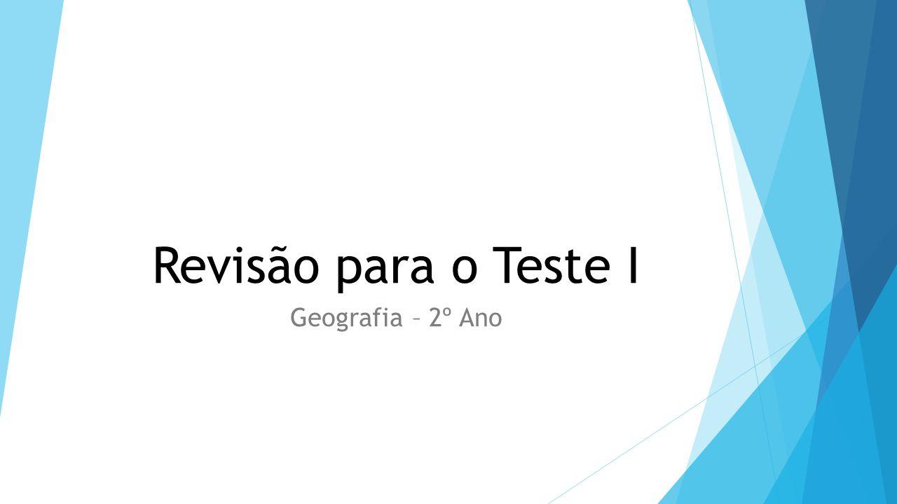 Revisão para o Teste I Geografia – 2º Ano