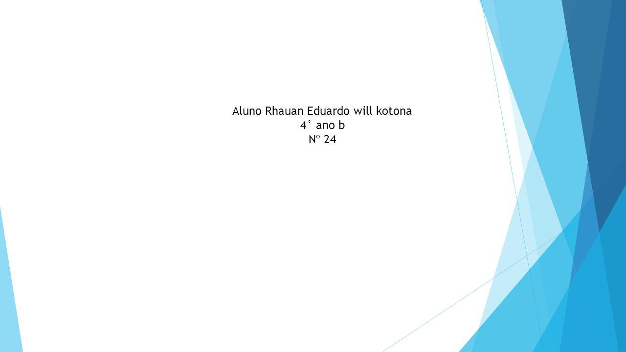Aluno Rhauan Eduardo will kotona 4° ano b Nº 24