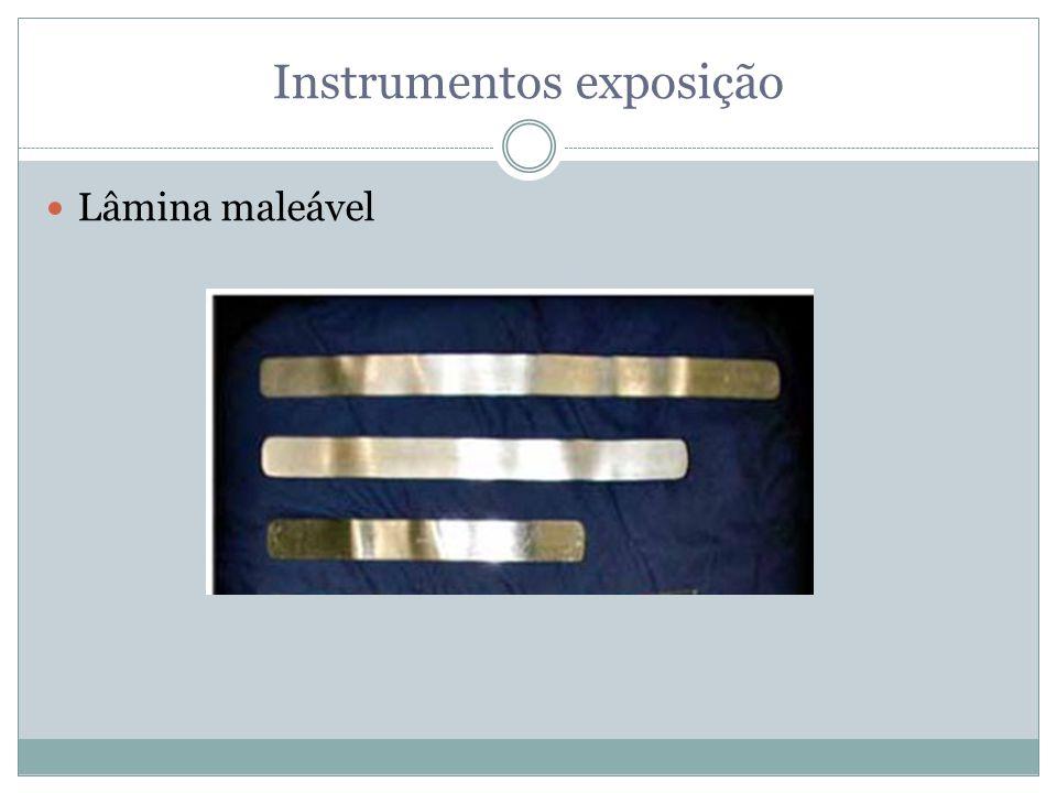 Instrumentos exposição Lâmina maleável