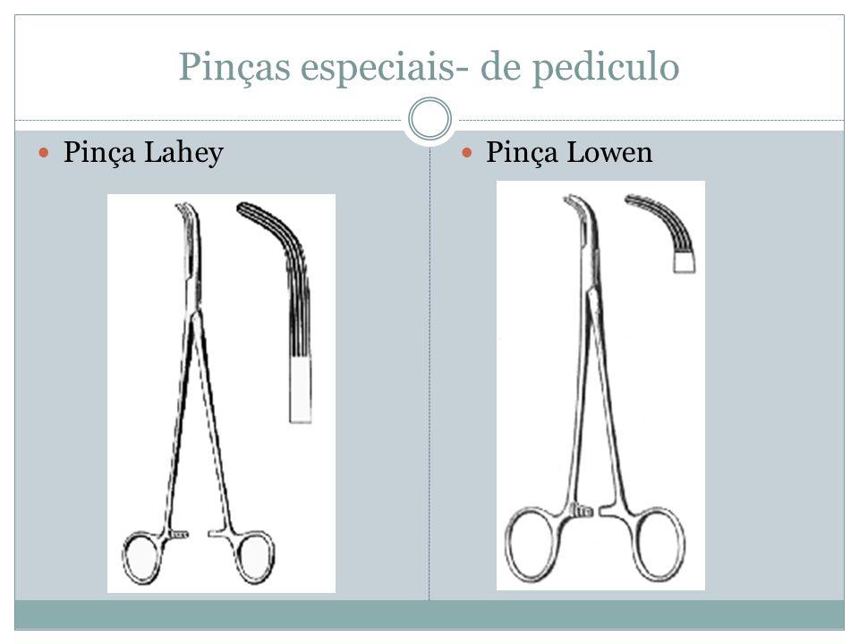 Pinças especiais- de pediculo Pinça Lahey Pinça Lowen