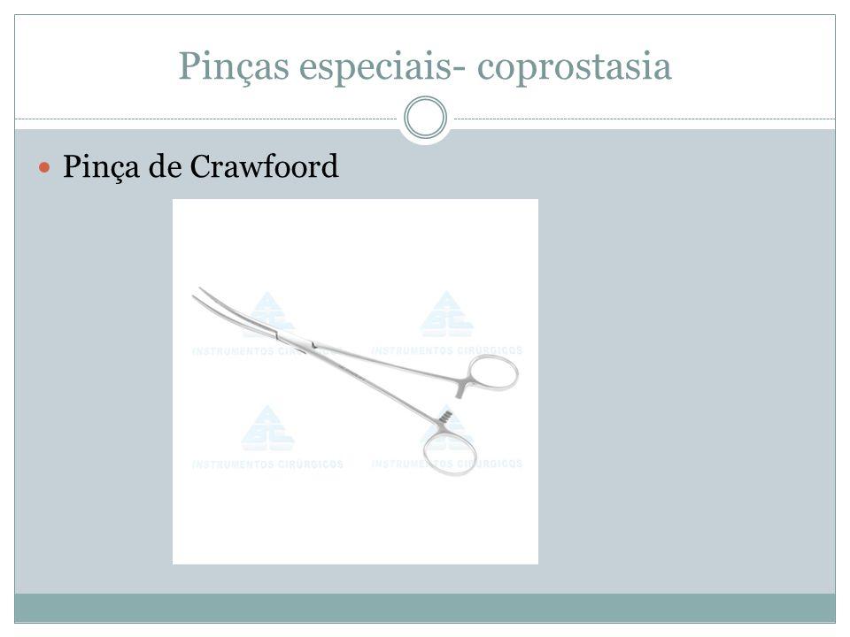 Pinças especiais- coprostasia Pinça de Crawfoord