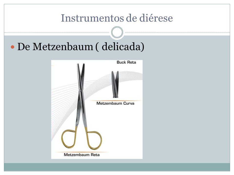 Instrumentos de diérese De Metzenbaum ( delicada)