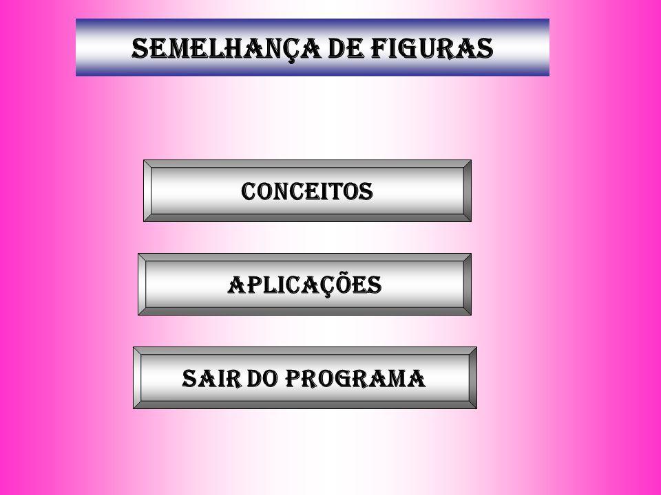SEMELHANÇA DE FIGURAS Conceitos aplicações Sair do programa