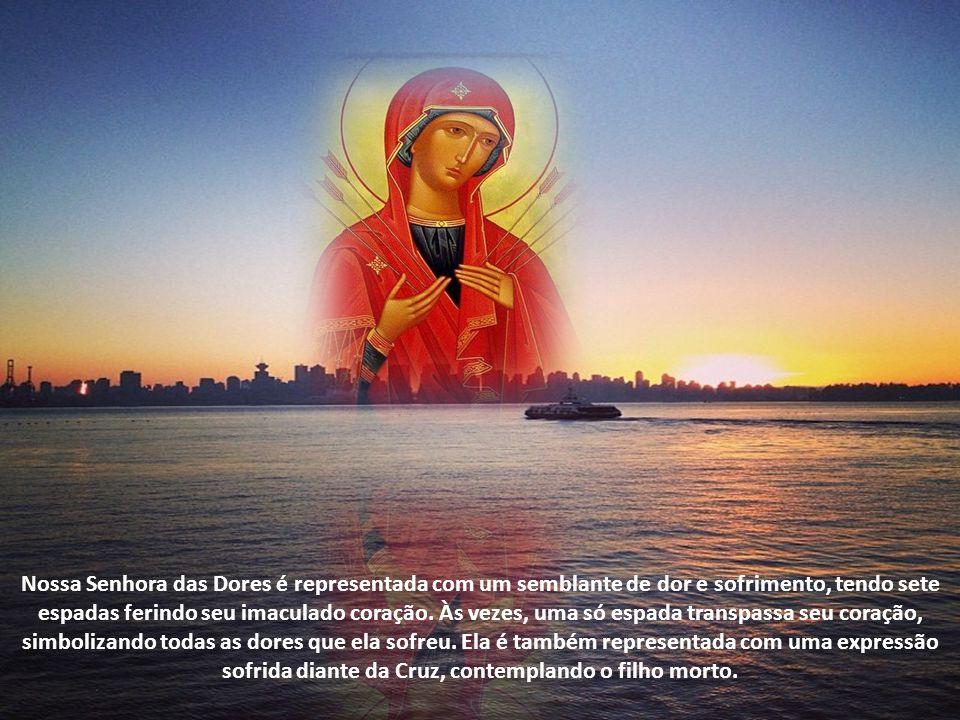 A devoção à Nossa Senhora das Dores tem origem na tradição que conta o encontro de Maria com seu filho Jesus, a caminho do Calvário. Ao ver o amado fi