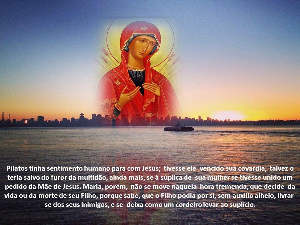 Foi nesse mesmo momento que Jesus disse a São João, que ali representava a todos nós: Filho, eis aí tua mãe. É por isso que a devoção a Nossa Senhora