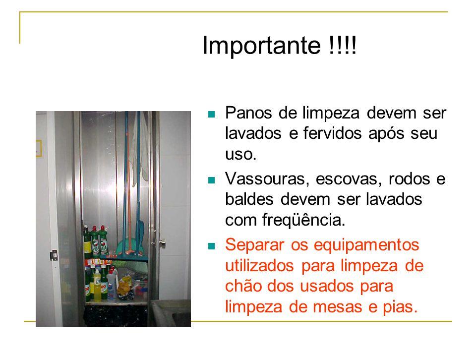 Importante !!!.Panos de limpeza devem ser lavados e fervidos após seu uso.