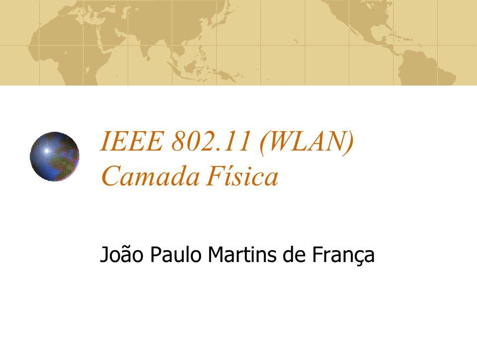 IEEE 802.11 (WLAN) Camada Física João Paulo Martins de França
