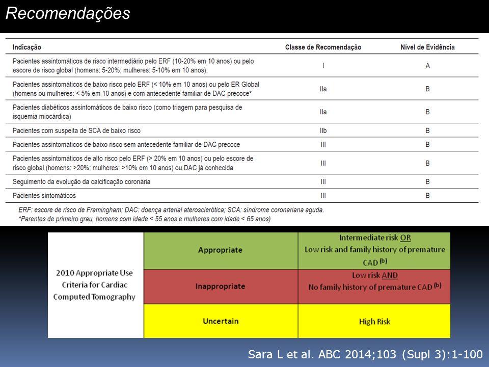 Recomendações Sara L et al. ABC 2014;103 (Supl 3):1-100