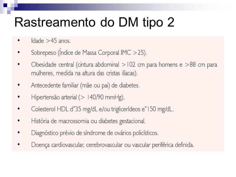 Rastreamento do DM tipo 2
