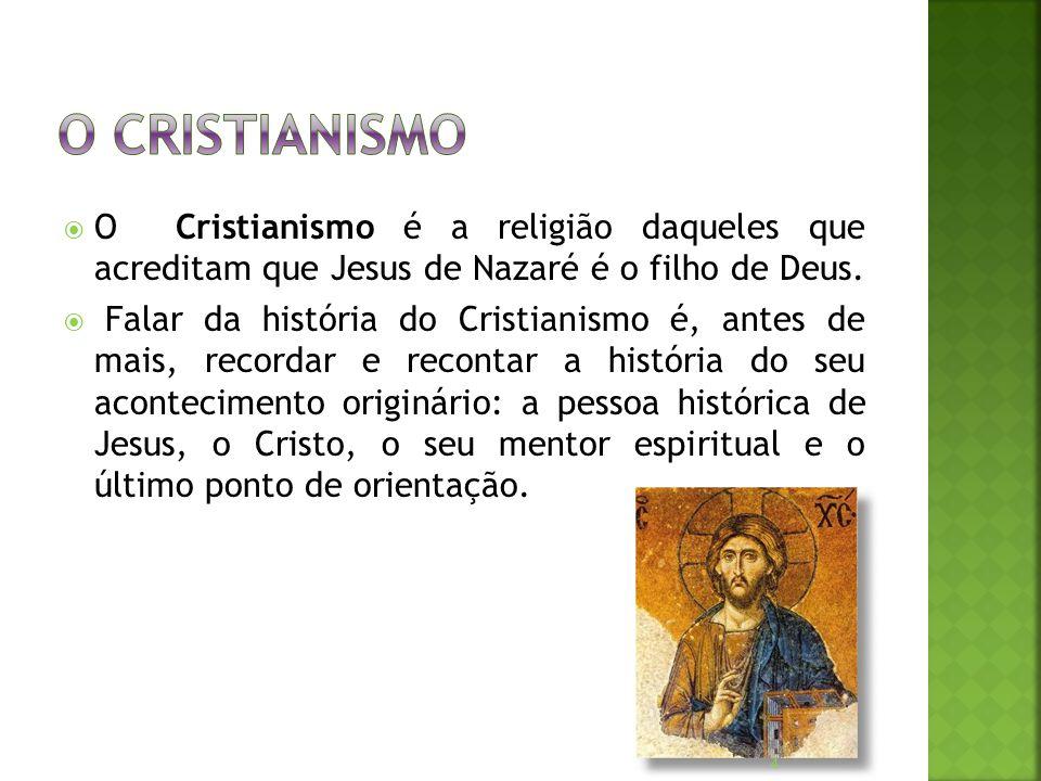  O Cristianismo é a religião daqueles que acreditam que Jesus de Nazaré é o filho de Deus.