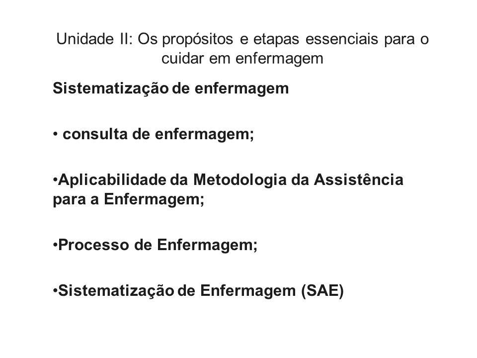 Processo Enfermagem Etapas Processo de Enfermagem