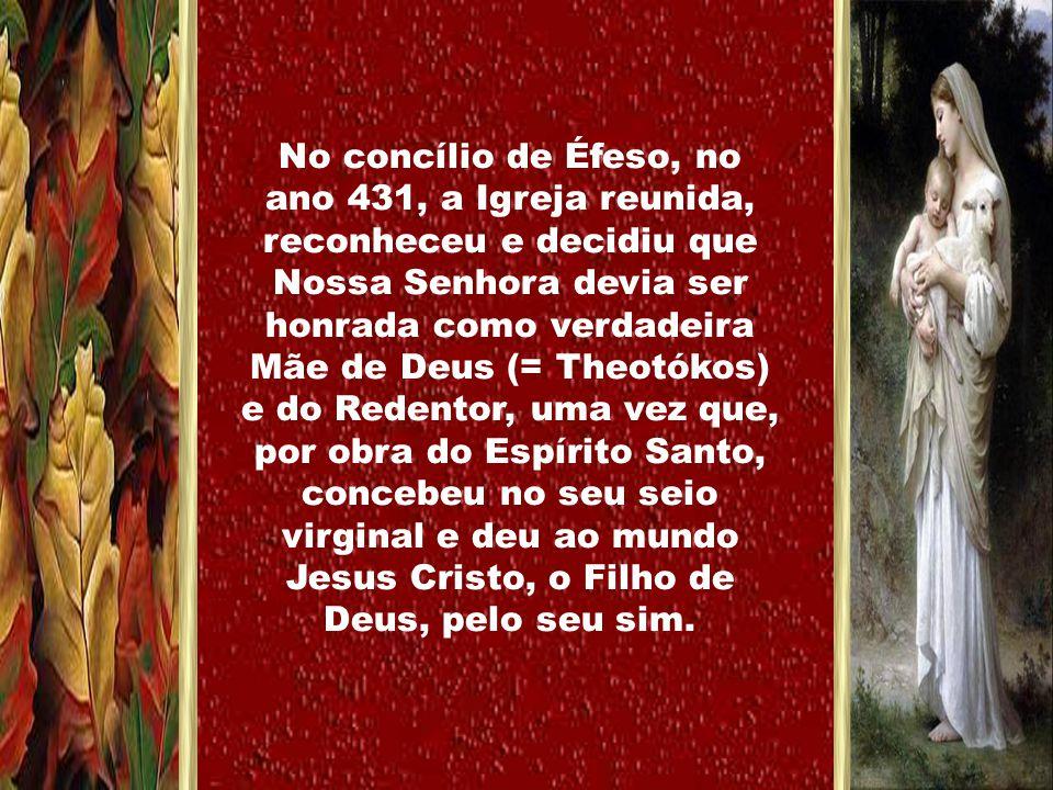 O mistério divino da salvação revela-se-nos e continua na Igreja, que o Senhor constituiu como seu corpo, e na qual os fiéis – unidos a Cristo, sua cabeça, e em comunhão com todos os seus santos – devem também, e 'em primeiro lugar, venerar a memória da gloriosa sempre Virgem Maria, Mãe de Deus e de Nosso Senhor Jesus Cristo.'