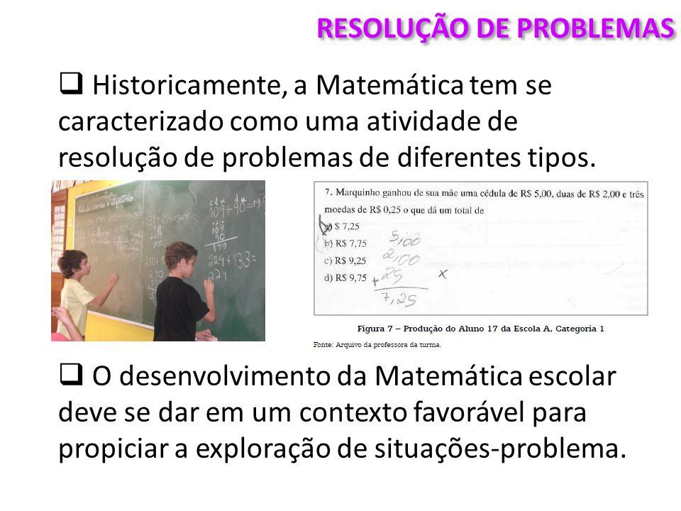 RESOLUÇÃO DE PROBLEMAS  Porém, na aprendizagem da Matemática, o problema adquire um sentido muito preciso.