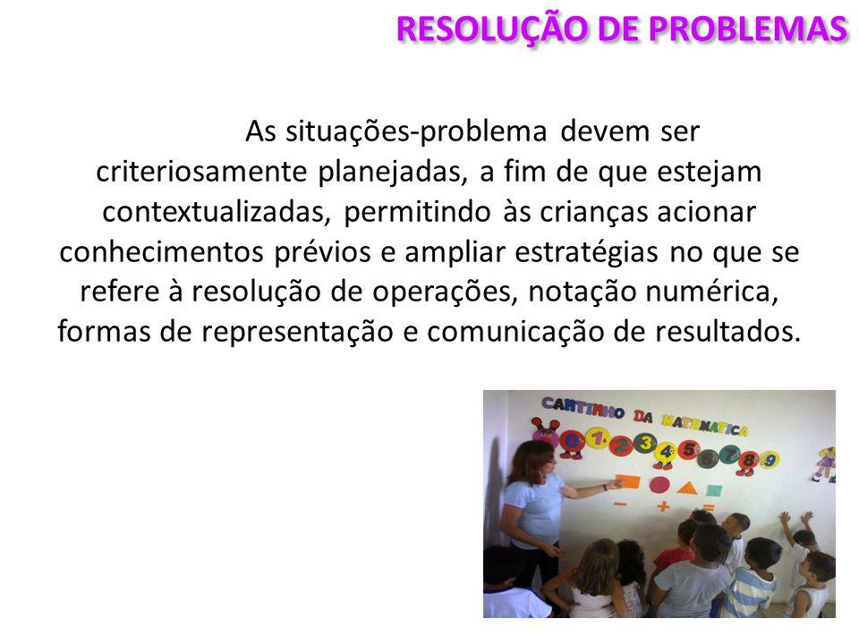  Vale destacar que não se aprende matemática somente resolvendo problemas, é necessário um processo de reflexão sobre eles e também sobre os diferentes procedimentos de resolução que podem surgir na turma.