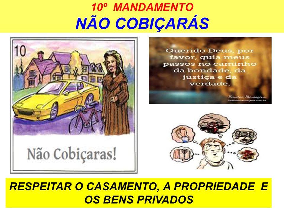10º MANDAMENTO NÃO COBIÇARÁS RESPEITAR O CASAMENTO, A PROPRIEDADE E OS BENS PRIVADOS