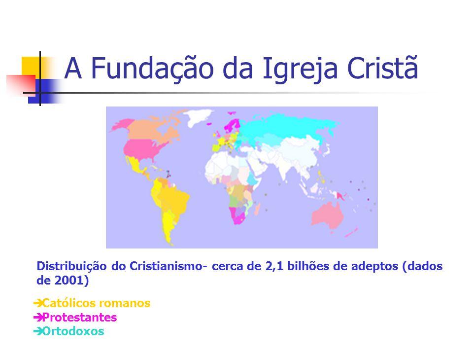  Católicos romanos  Protestantes  Ortodoxos Distribuição do Cristianismo- cerca de 2,1 bilhões de adeptos (dados de 2001)