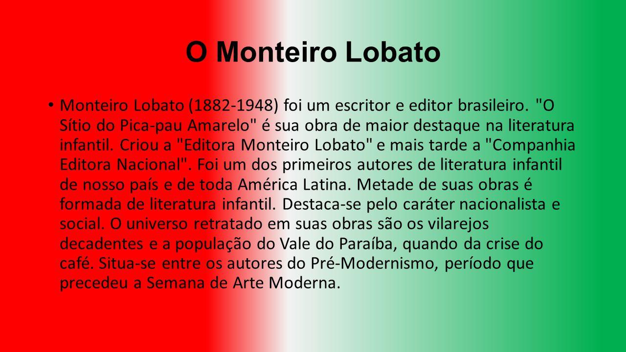 O Monteiro Lobato Monteiro Lobato (1882-1948) foi um escritor e editor brasileiro.