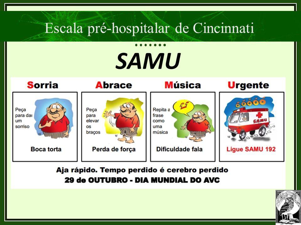 Escala pré-hospitalar de Cincinnati SAMU