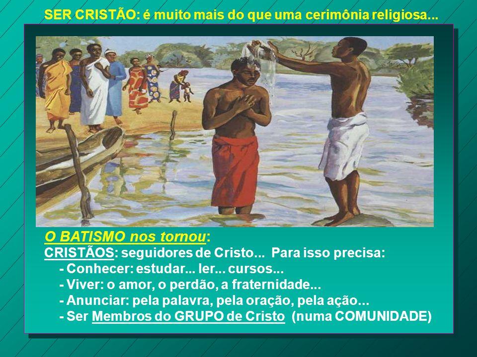 Para ser cristão, basta apenas receber o Batismo? Ninguém duvida do valor e da eficácia do Batismo dado às crianças, mas a Igreja se pergunta: